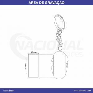CHAVEIRO DE METAL COM CANIVETE CH0051
