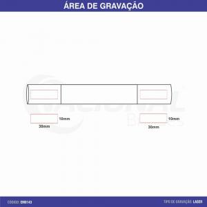 ESTOJO TUBO DE METAL C/ DETALHE EM MATERIAL SINTÉTIO EM0143
