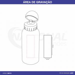 SQUEEZE DE ALUMÍNIO 500ML GA9139M