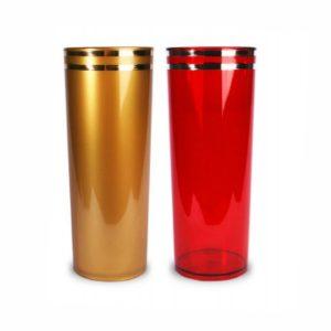 COPO LONG DRINK METALIZADO COM UMA OU DUAS BORDAS DOURADAS CO0350C